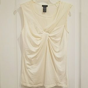 4 for $25 Ann Taylor elegant gathered cream blouse